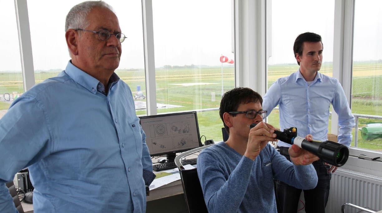Aerolaser HandheldMAX training at Texel Airport